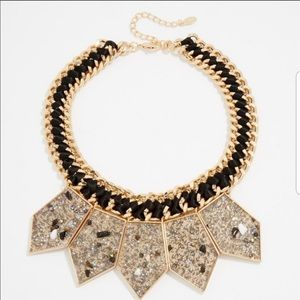 Aldo black and gold statement choker necklace